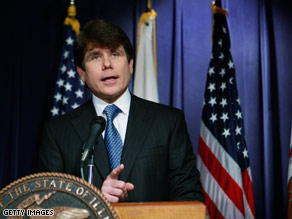 Blagojevich, facing record low approval ratings in Illinois, tops at least one political poll this month.