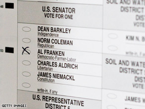 As of Friday morning, Al Franken has a narrow lead over Sen. Norm Coleman, according to the Minneapolis Star Tribune.