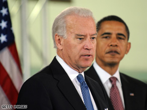 Biden (above: in Chicago with President-elect Obama last week), gave his first interview since the election.