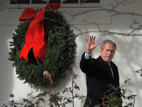 Bush released a Christmas message Tuesday.
