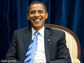 Obamas poll numbers have given him something to smile about lately.