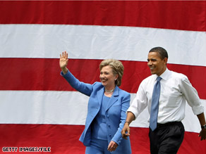 President-elect Obama and Secretary of State designate Hillary Clinton topped a new poll of most admired people.