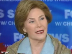 Laura Bush spoke out about the shoe incident in an interview with &#039;Fox News Sunday.&#039;