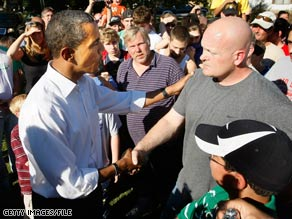 Then-Sen. Obama's chance meeting with an Ohio plumber in October became a symbol for the battle for working- and middle class voters.