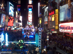 Check out Anderson and Kathy&#039;s view from the stage in Times Square.