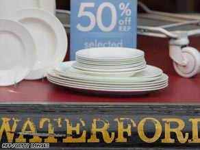 Fine china and glass maker Waterford and Wedgewood has called in a receiver.