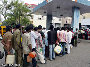 Long queues at gas stations have become a common sight across India in recent days.