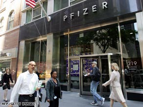 Pfizer's world headquarters is in New York.