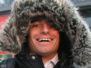 A unusual array of headwear can be found on the chilly streets of Davos, Switzerland during the World Economic Forum.