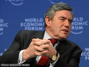 "Gordon Brown said governments were dealing with the ""first financial crisis of the global age."""