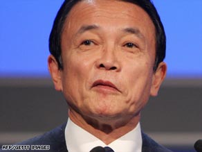 Aso said the U.S. needed to curb overconsumption.