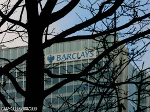 Barclays shares ended the day up 22 percent.