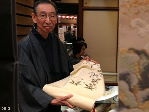 The craftsmanship offered at the Sekine Kimono Shop can cost 10 times what department stores offer.