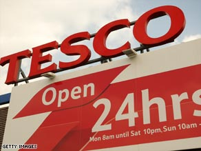 "Tesco said it had made a ""solid start"" to 2009, with a 3.4 percent growth in like-for-like sales."