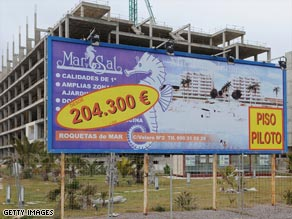 The collapse of the real estate boom in Spain has driven unemployment rates to record levels.