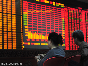 Visions of recovery? A securities exchange in Beijing.