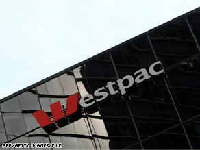 Westpac Bank signage is displayed in Sydney on May 13, 2008.