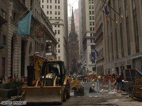 Wall Street under repair is emblematic of  the IPO market collapse on its trading floors.