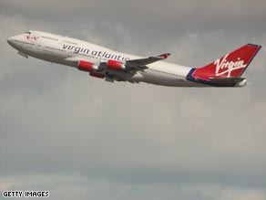 Virgin Atlantic's profit has nearly doubled in the past year despite the recession.