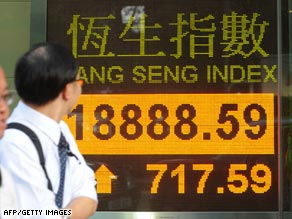 In Hong Kong on June 1, the stock  market finishes day with four 8s, a lucky number in China.