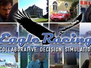 """Eagle Racing"" is a video-based simulation designed to teach business skills."