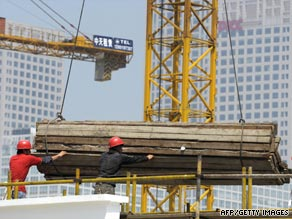 China's $586 billion stimulus package includes a focus on increasing infrastructure.