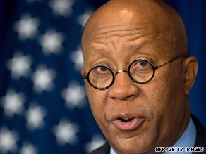 U.S. Trade Representative Ron Kirk on Tuesday in Washington announces a WTO dispute against China.