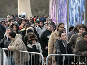 Queues for tickets to Michael Jackson's concert