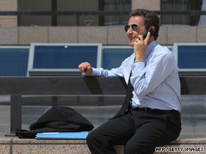 "Seasoned travelers such as French President Nicolas Sarkozy can make cheaper calls when ""roaming"" from Wednesday."