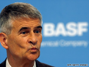 "BASF Chairman Jürgen Hambrecht said company will restructure itself in a ""socially responsible"" manner."