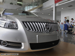 A GM dealership in Shanghai, China: A place where U.S. automakers have reported rising sales.