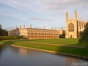 King's College, Cambridge University at dusk. Why are so many students from the Middle East appying to study in the UK?