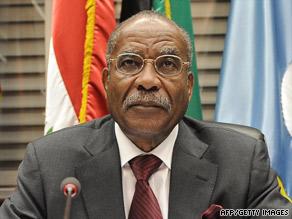 OPEC president Jose Maria Botelho de Vasconcelos of Angola opens the OPEC meeting in Vienna Wednesday.