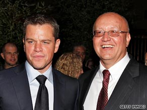 Mark Whitacre, right, at the premiere of 'The Informant' with Matt Damon.