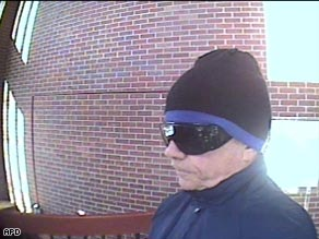 A surveillance camera photo supplied by Aspen police shows the man identified as James Blanning.