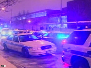 Police say a shooting outside a Chicago high school on Friday may be gang-related.