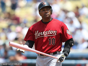 Miguel Tejada, a shortstop for the Houston Astros, has been charged with lying to Congress.