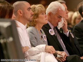 George Anthony wipes away a tear as he eulogizes slain granddaughter Caylee.