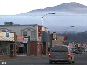 Main Street in Libby, Montana. Some residents say the town was kept in the dark about asbestos dangers.