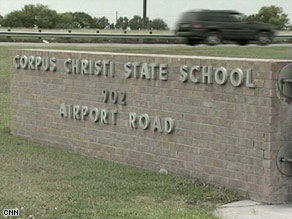 Admissions to the Corpus Christi State School in Corpus Christi, Texas have been suspended.