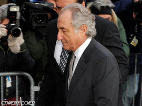 Bernard Madoff arrives at a federal courthouse Thursday. He pleaded guilty to conducting a Ponzi scheme.