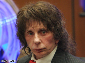 Music producer Phil Spector is charged with second-degree murder in the death of actress Lana Clarkson.