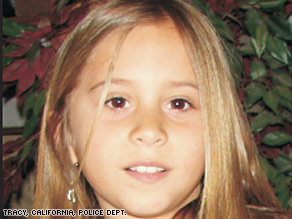 Sandra Cantu, 8, disappeared on March 27, according to police in Tracy, California.