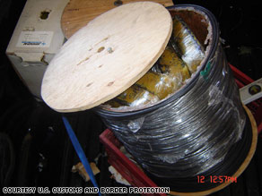 drug smuggling in wire container