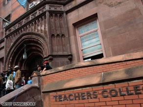 A former professor is suing Columbia University's Teachers College for defamation.