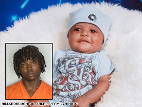 Police say infant Emanuel Murray died after his mother's ex-boyfriend threw him from a car on a Florida interstate.