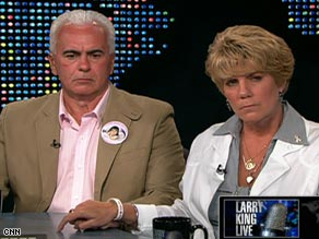 "George and Cindy Anthony, parents of murder suspect Casey Anthony, on ""Larry King Live"" Wednesday."