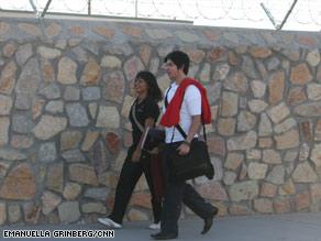 Marina Diaz and Alejandro Caballero cross a U.S.-Mexico border checkpoint on the way to school each day.