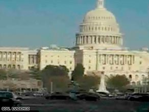 The Capitol is pictured in a frame from a video that the FBI says Syed Haris Ahmed shot.