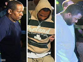 Three of the four suspects in the alleged synagogue bombing plot are shown after their arrests.